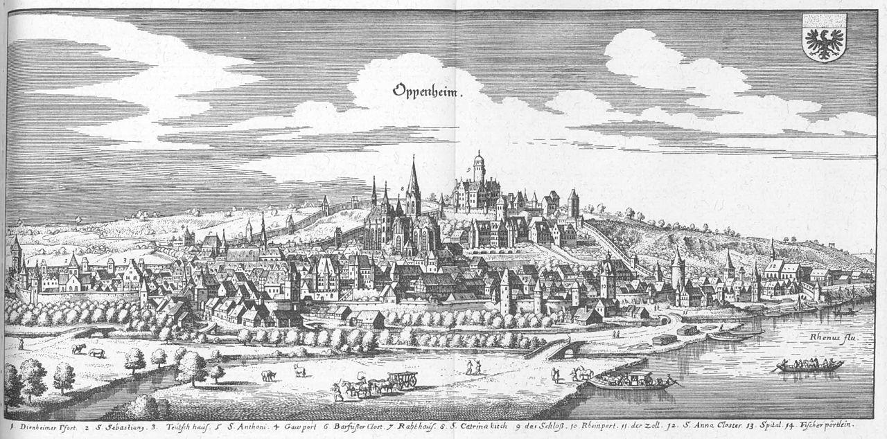 OppenheimObjekte: Stadtansicht von Oppenheim, Matthäus Merian